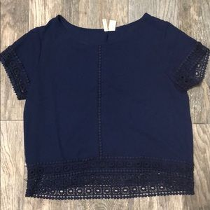 Blue blouse with cute details